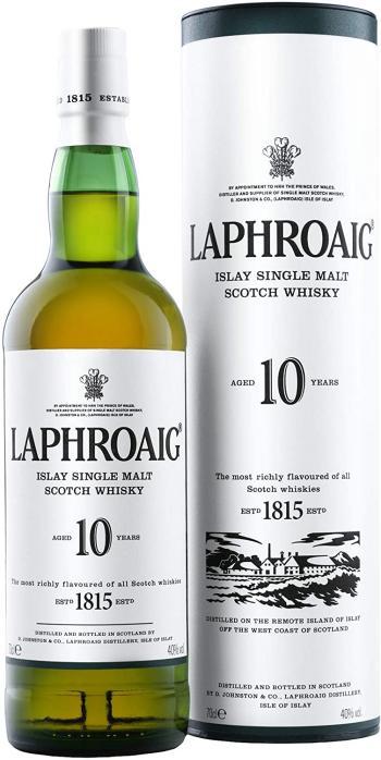 Laphroaig, Islay Single Malt Scotch Whisky, 10 Anni